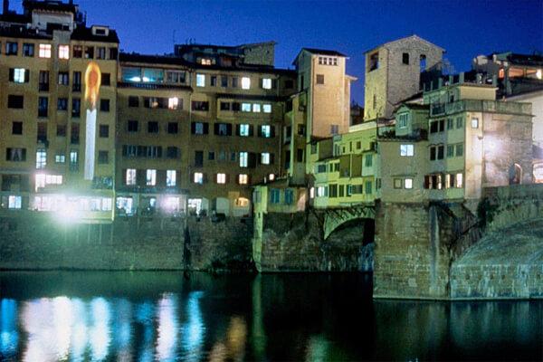 Studio Stefania Miscetti | Contemporary Art Rome | Project: YOKO ONO - Lighting piece - Florence